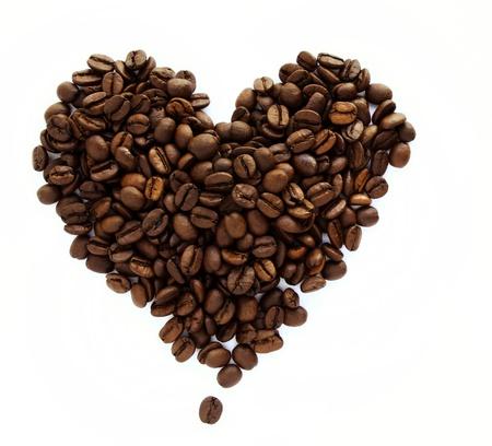 shape: Les grains de caf?n forme de coeur