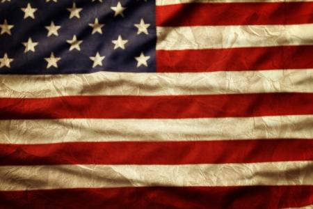 Closeup of grunge American flag Stock Photo - 20585146
