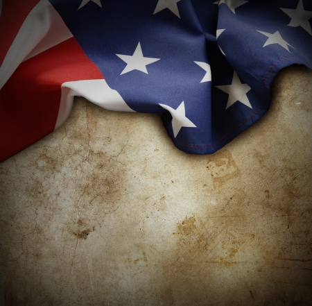 Closeup of American flag on grunge background Stock Photo - 20585153