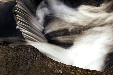 rushing water: Water flowing over rocks