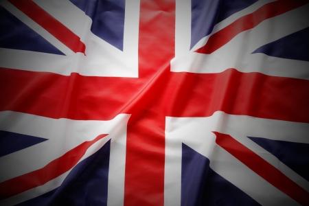 great britain: Closeup of Union Jack flag