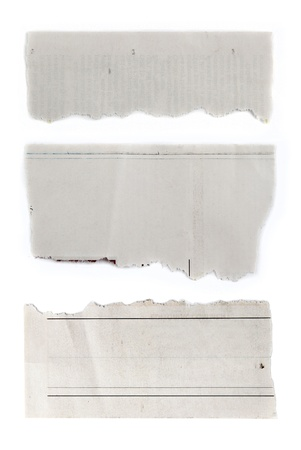 Pieces of torn paper on plain background  Copy space Stock Photo - 20917337