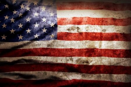 グランジ アメリカ国旗のクローズ アップ 写真素材