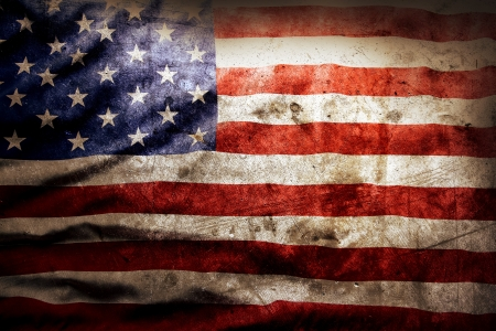 Closeup of grunge American flag 版權商用圖片 - 20917362
