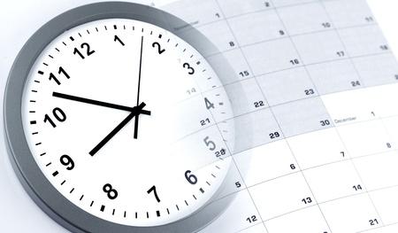 Clock face and calendar composite Zdjęcie Seryjne