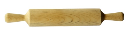 Rolling pin isolated on plain white background  photo
