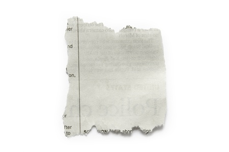 ripped: Piece of torn paper isolated on plain background  Copy space