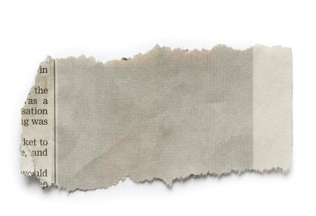 plain paper: Piece of torn paper isolated on plain background  Copy space