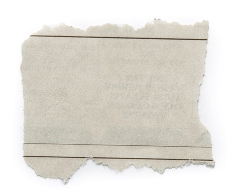 Piece of torn paper isolated on plain background  Copy space photo