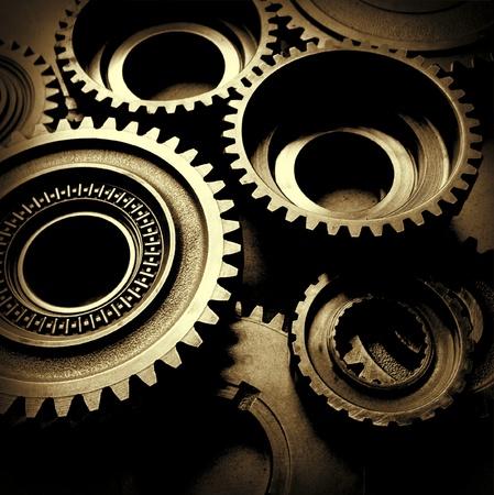 Closeup von Metall-cog G?e Standard-Bild - 21403311