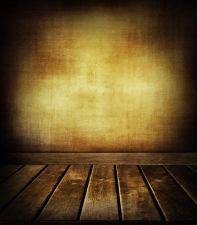 floorboards: Wooden floorboards and textured wall Stock Photo