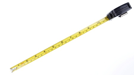 Tape measure on plain background 版權商用圖片