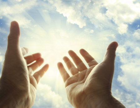 spiritual: Hands reaching for the sky