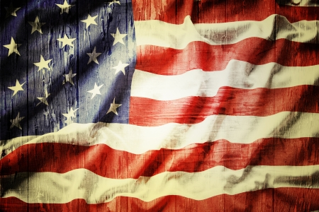 usa patriotic: Closeup of grunge American flag