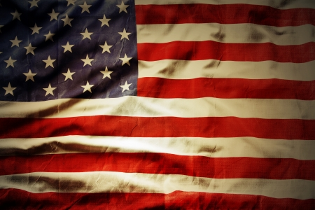 Closeup of grunge American flag Stock Photo - 22128888