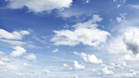 hi resolution: White clouds in blue sky  Large hi-res file
