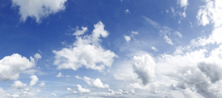 hires: White clouds in blue sky  Large hi-res file