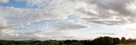 New Zealand farmland and sky photo