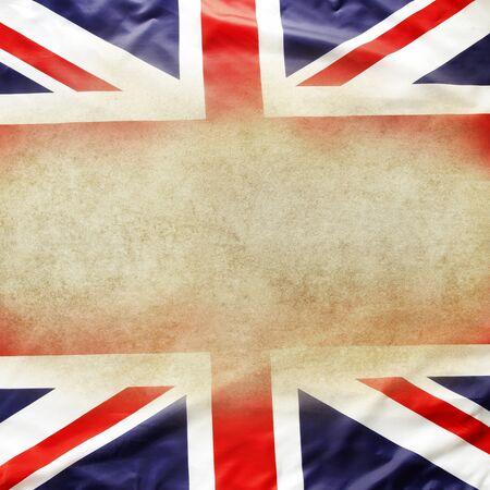 union flag: Union Jack flag. Copy space Stock Photo