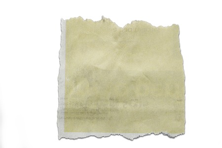 Piece of torn paper isolated on plain copy space Stock Photo - 22442776