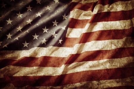 länder: Nahaufnahme von Grunge amerikanische Flagge