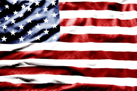 Halftone pattern on American flag photo