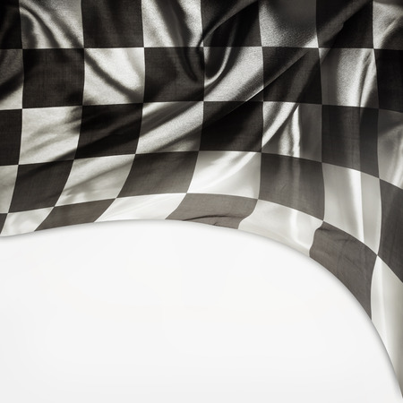Checkered black and white flag. Copy space Stock Photo - 22836319
