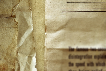 oude krant: Close-up van oude krant textuur