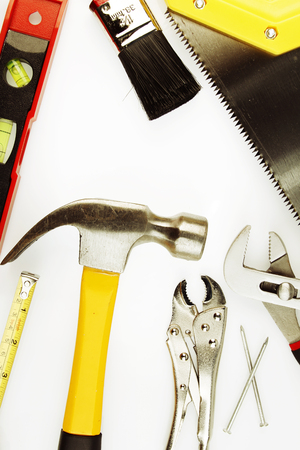 Closeup of assorted work tools photo