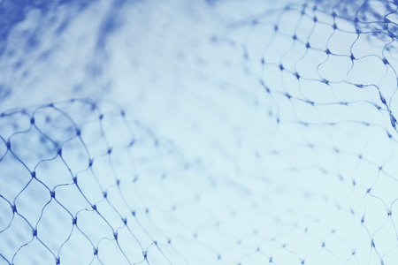fish net: Closeup of abstract blue fishnet