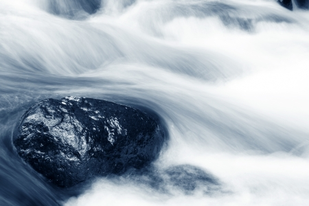 rushing water: Stream flowing over rocks