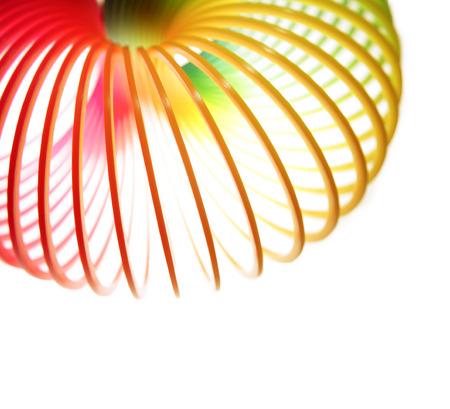 spirale: Nahaufnahme der Feder auf weißem