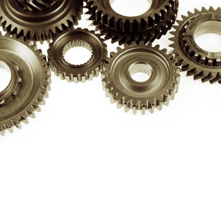 Steel cog gears on plain  photo