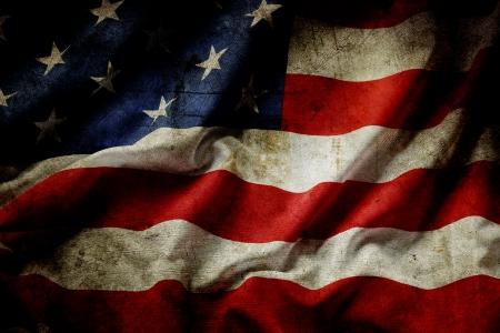 Nahaufnahme von Grunge amerikanische Flagge Standard-Bild - 24197683
