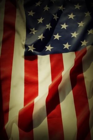 detail: Closeup of American flag