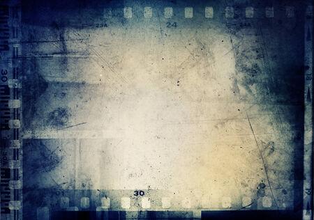negative space: Film negatives frame, copy space