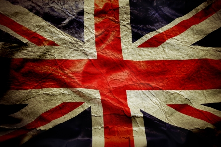 Closeup of Union Jack flag, with texture photo