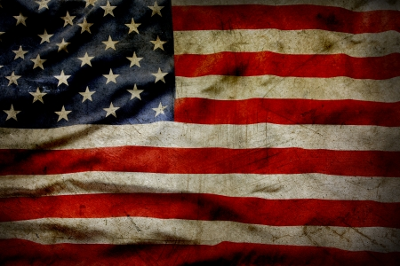 Gros plan de grunge drapeau américain