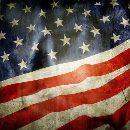 grunge backgrounds: Detalle de grunge bandera de Estados Unidos