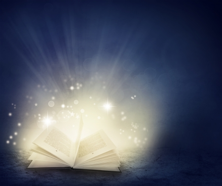 Open book and magical  photo