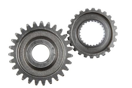 cogwheels: Metal gears on plain