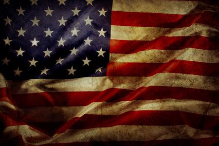 グランジ アメリカ国旗のクローズ アップ 写真素材 - 25798852