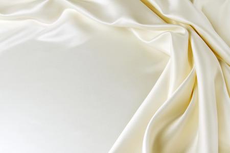 Close-up van golfde zijden stof