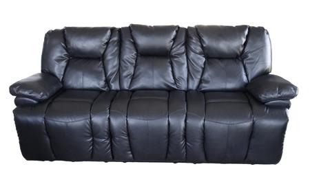 seater: Leather sofa isolated on plain background Stock Photo