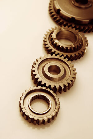 Metal cog gears joining together  photo