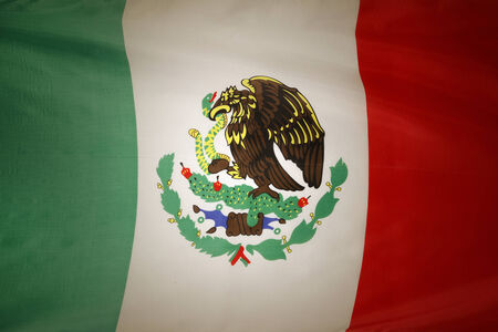 Closeup of Mexican flag  photo