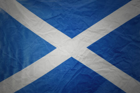 Scotland flag. Grunge textured effect photo