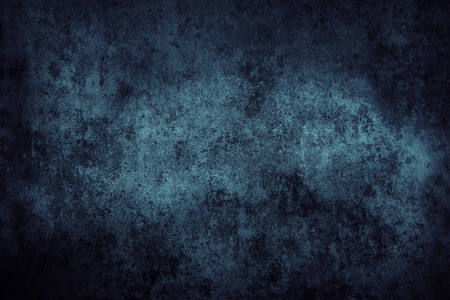 Blue grunge textured wall closeup photo