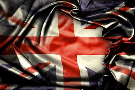 bandiera inghilterra: Primo piano di grunge Union Jack bandiera Archivio Fotografico