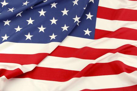 Closeup of ruffled American flag Stock Photo - 28028403